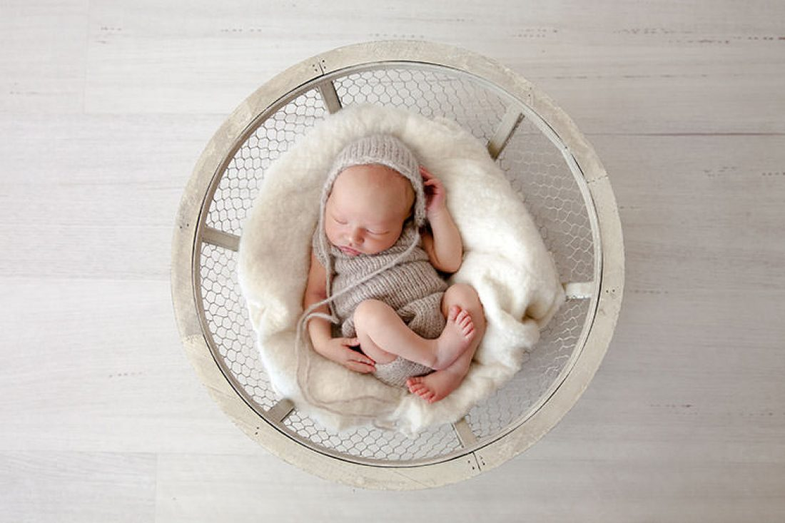 Tasteful newborn outfits for photoshoot with Vanilla Images